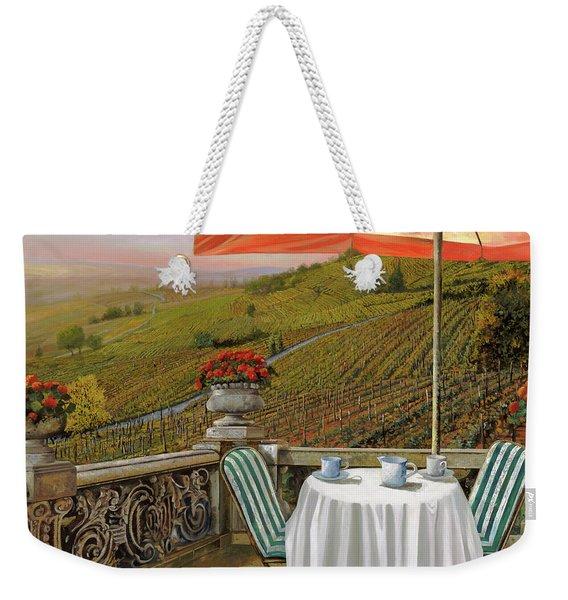 Un Caffe' Nelle Vigne Weekender Tote Bag