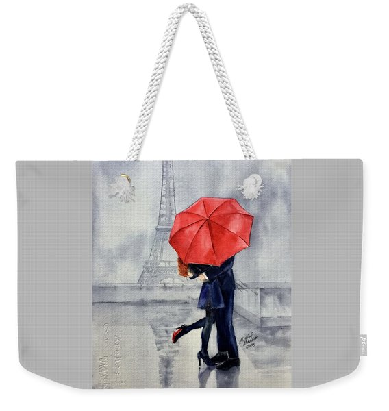 Under A Red Umbrella Weekender Tote Bag