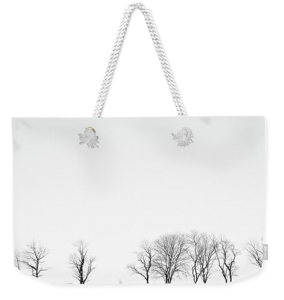 Under A Winter Sky Weekender Tote Bag