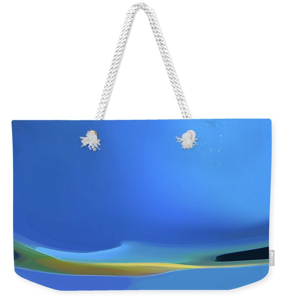 Weekender Tote Bag featuring the digital art Undercurrents by Gina Harrison