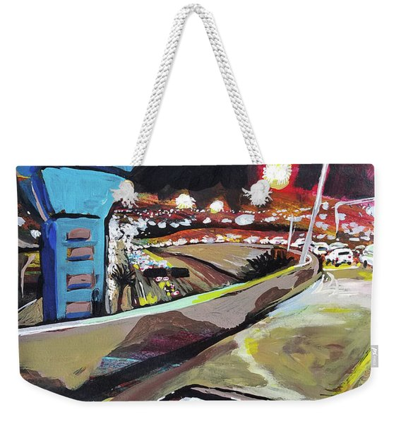 Underpass At Nighht Weekender Tote Bag