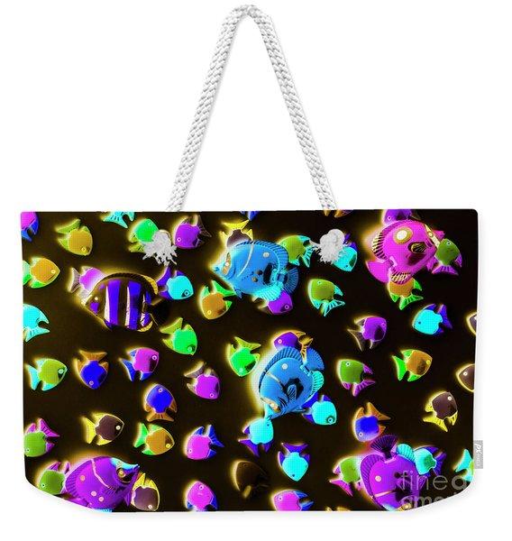 Underwater Glow Weekender Tote Bag