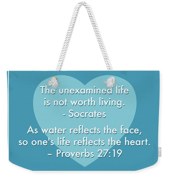 Unexamined Life Weekender Tote Bag