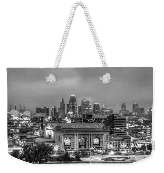 Union Station Sunrise 2 B W Kansas City Missouri Art  Weekender Tote Bag
