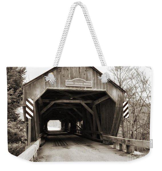 Union Village Covered Bridge Weekender Tote Bag