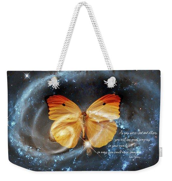 Universal Butterfly Weekender Tote Bag