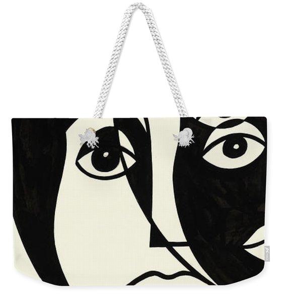 Untitled, Cubist Face Weekender Tote Bag