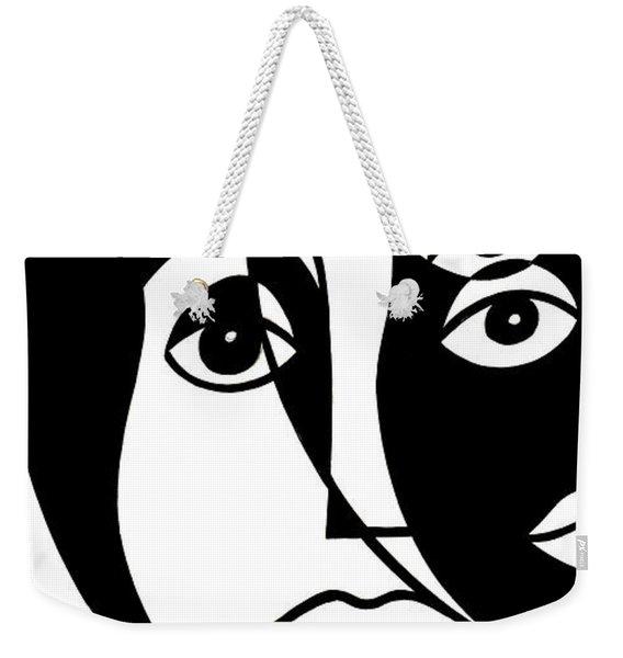 Untitled, Cubist Portrait Weekender Tote Bag