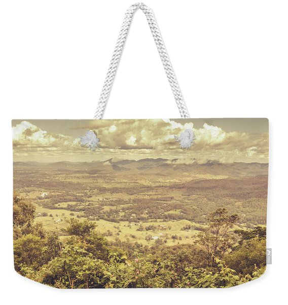 Up Above The Land Down Under Weekender Tote Bag