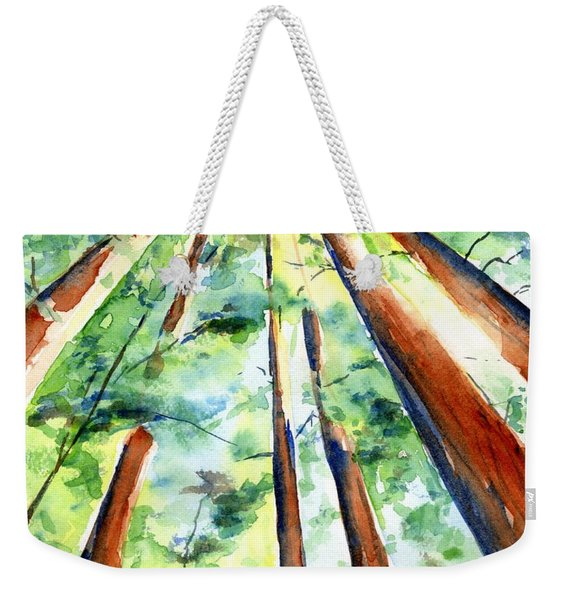 Up Through The Redwoods Weekender Tote Bag