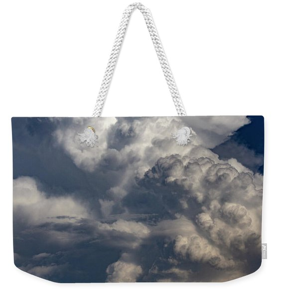 Weekender Tote Bag featuring the photograph Updrafts And Anvil 008 by NebraskaSC
