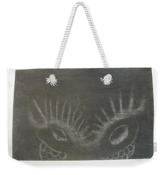 Upper Dragon Face Weekender Tote Bag