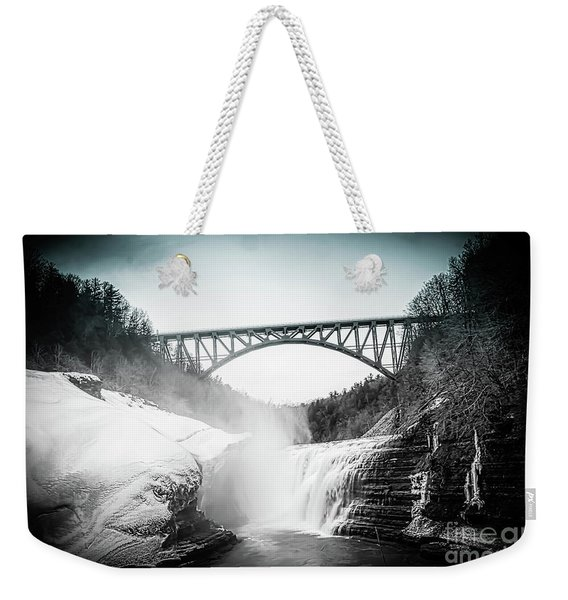 Upper Falls At Letchworth State Park Weekender Tote Bag