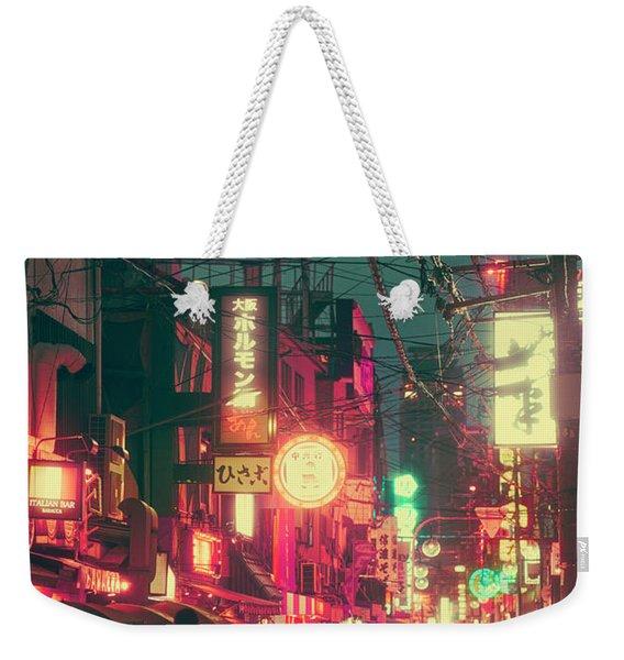 Ura Namba Street Nightlife Osaka Japan Weekender Tote Bag
