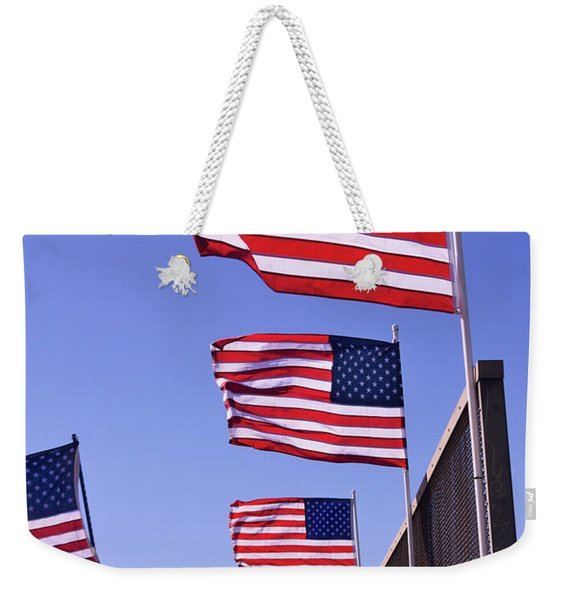 U.s. Flags, Presidents Day, Central Valley, California Weekender Tote Bag
