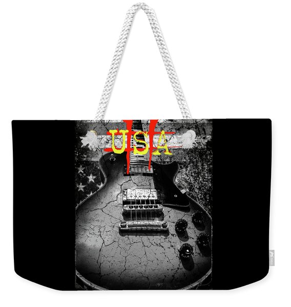 Usa Flag Guitar Relic Weekender Tote Bag