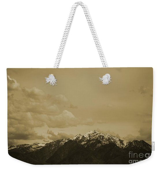 Utah Mountain In Sepia Weekender Tote Bag