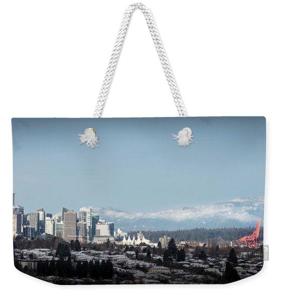 Vacouver Winter 1 Weekender Tote Bag