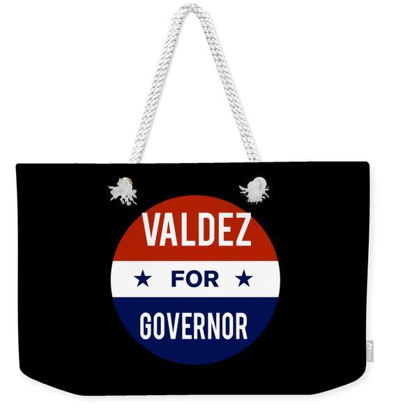 Valdez For Governor 2018 Weekender Tote Bag