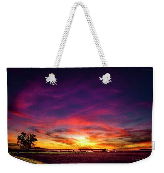 Valentine Sunset Weekender Tote Bag