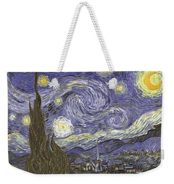 Weekender Tote Bag featuring the digital art Van Goh Starry Night by Flippin Sweet Gear