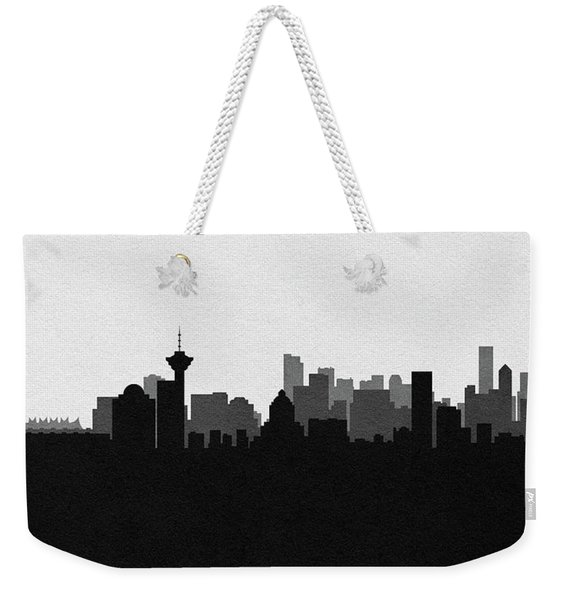 Vancouver Cityscape Art Weekender Tote Bag