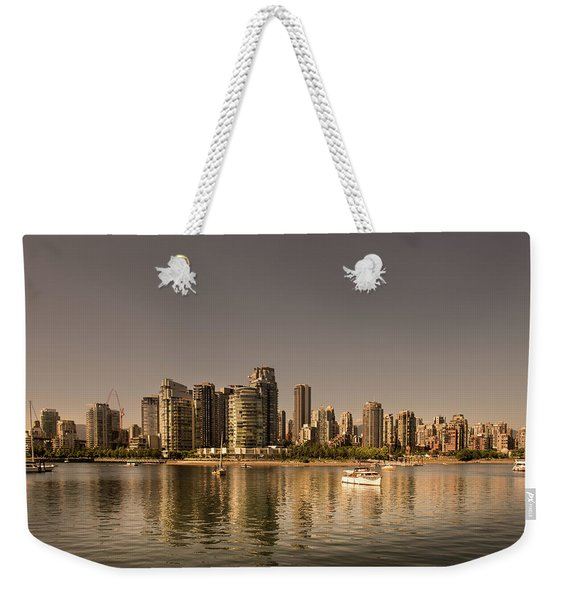 Vancouver Golden Light Hour Weekender Tote Bag