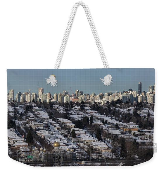 Weekender Tote Bag featuring the photograph Vancouver In Winter No. 1 by Juan Contreras