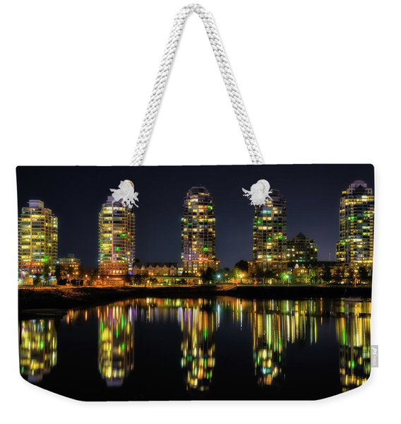 Vancouver Night Reflections Weekender Tote Bag