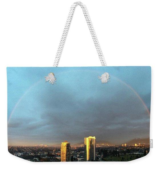 Vancouver Rainbow Weekender Tote Bag