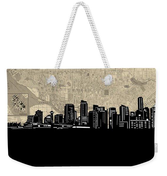 Vancouver Skyline Map Weekender Tote Bag