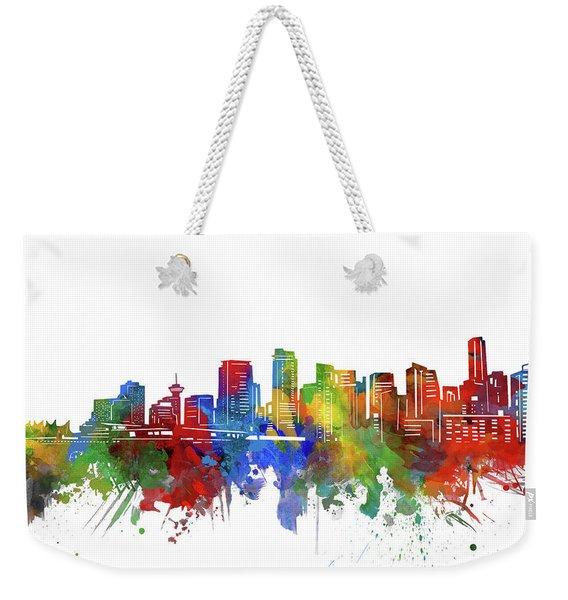 Vancouver Skyline Watercolor 2 Weekender Tote Bag