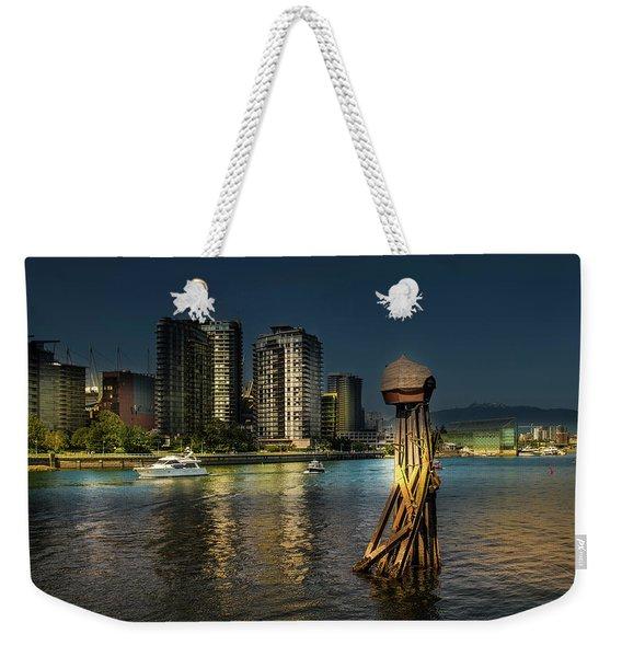 Vancouver Sunset Weekender Tote Bag
