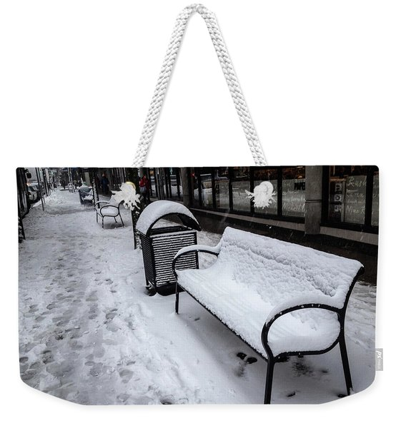 Weekender Tote Bag featuring the photograph Vancouver Winter by Juan Contreras