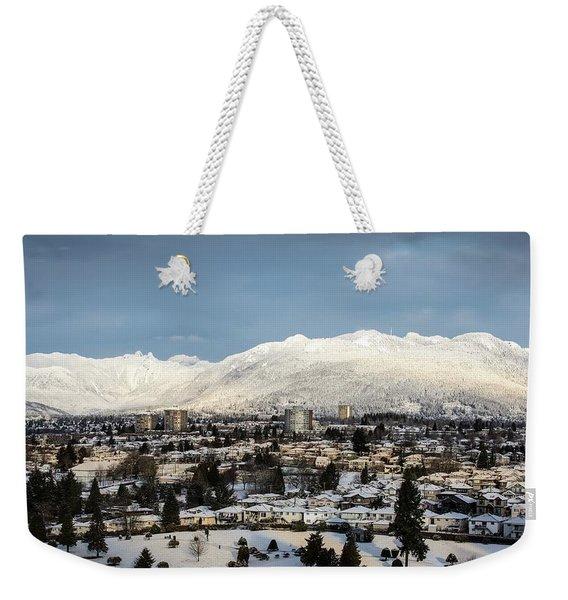 Vancouver Winterscape Weekender Tote Bag