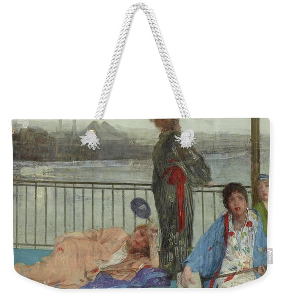 Variations In Flesh Color And Green, The Balcony Weekender Tote Bag