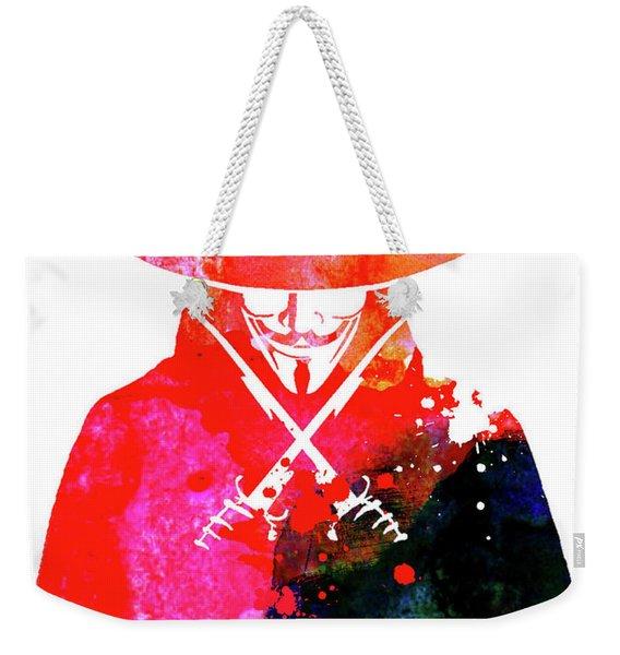 Vendetta Watercolor Weekender Tote Bag