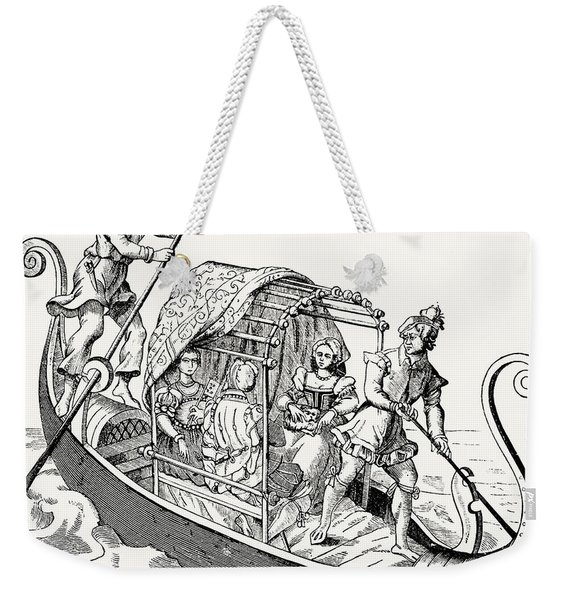 Venetian Gondola, From Grand Procession Of The Doge Of Venice Weekender Tote Bag