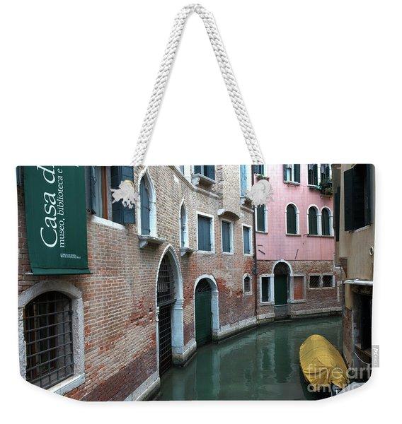 Venetian Streets -canals. Carlo Galdoni Museum Weekender Tote Bag