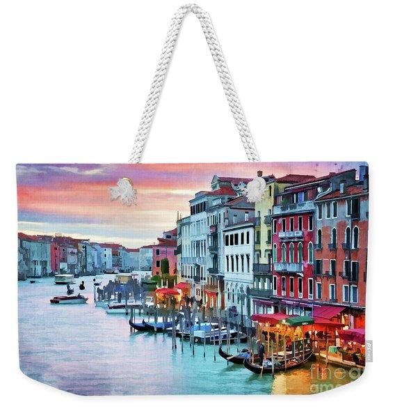 Venetian Sunset Weekender Tote Bag