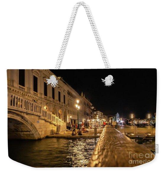 Venice At Night. San Marco Weekender Tote Bag