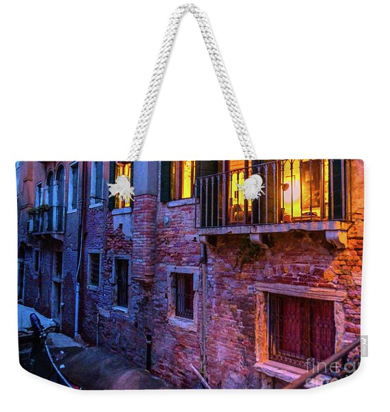 Venice Windows At Night Weekender Tote Bag
