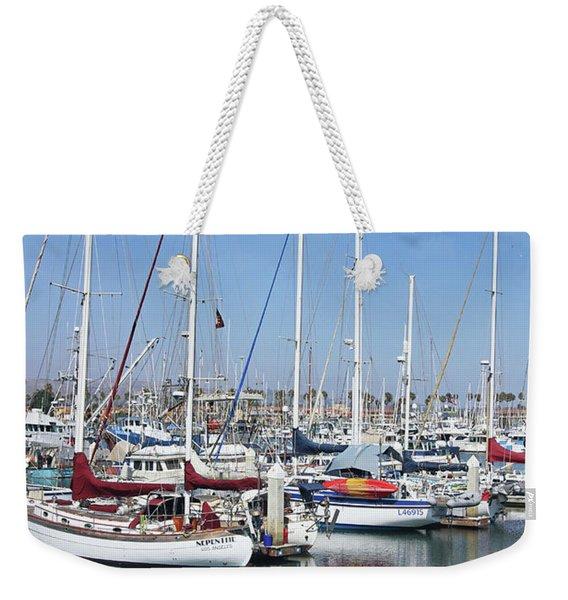 Ventura Harbor  By Linda Woods Weekender Tote Bag
