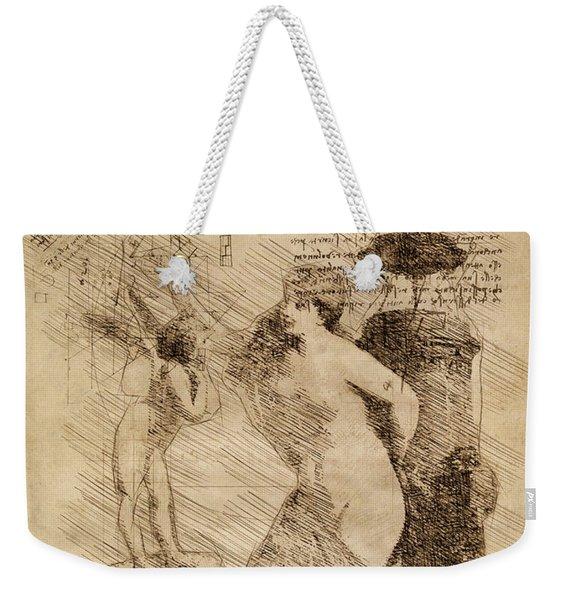 Venus Weigh Cupid Weekender Tote Bag