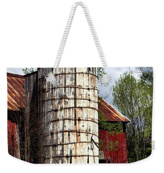 Vermont Farmhouse Silo  Weekender Tote Bag
