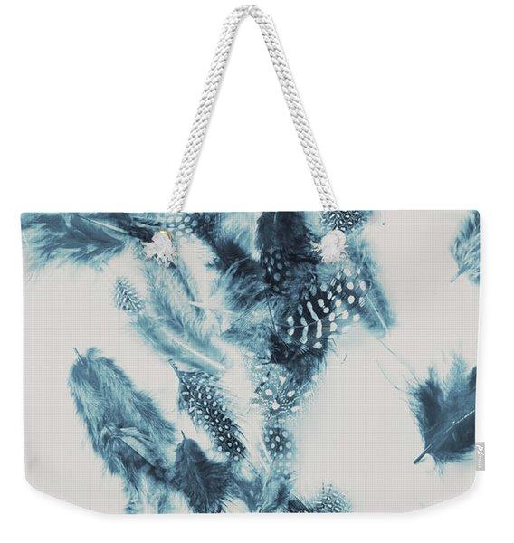 Vertigo Blue Weekender Tote Bag