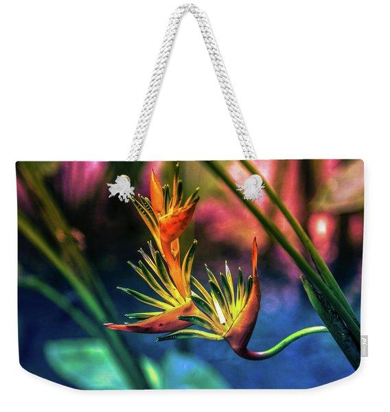 Vibrant Jungle Bird Weekender Tote Bag