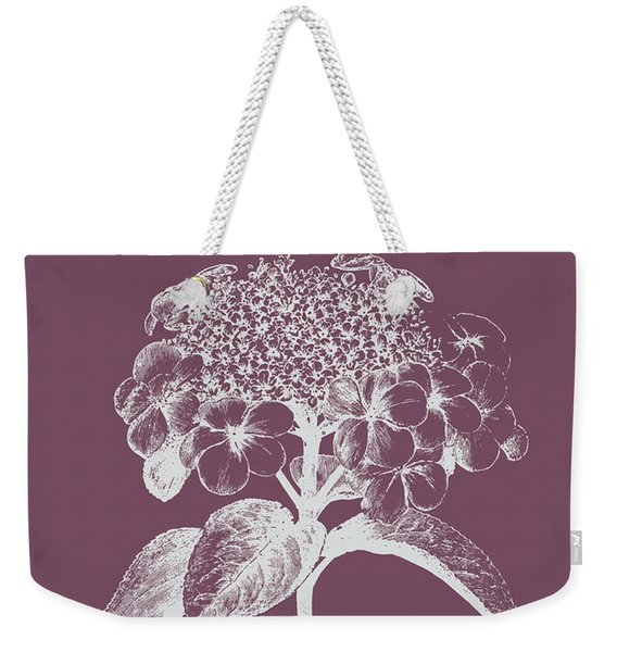 Viburnum Blush Purple Flower Weekender Tote Bag