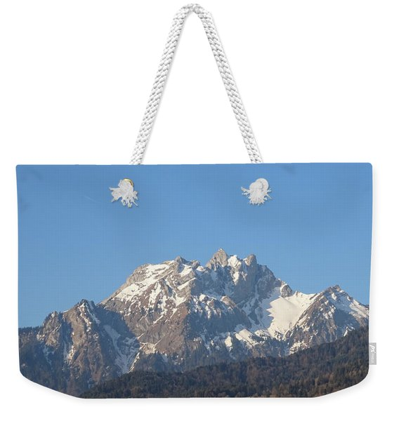View From My Art Studio - Pilatus I - April 2019 Weekender Tote Bag