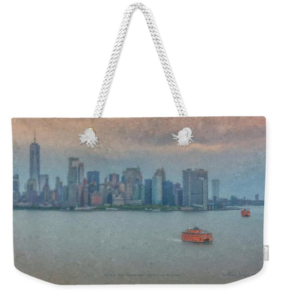 View From Norwegian Escape Returning To New York From Bermuda Weekender Tote Bag